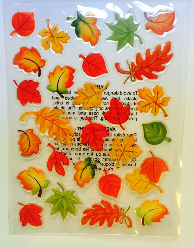 Recollections Fall Leaves Thanksgiving Stickers-O Canada