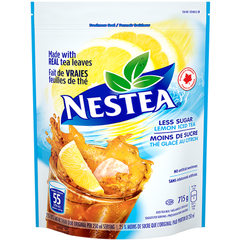 Nestea Iced Tea Powder - Less Sugar 715g - Best Before 19 July 2020-O Canada