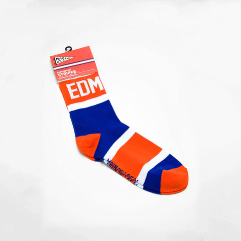 Edmonton City Stripes Socks - Unisex