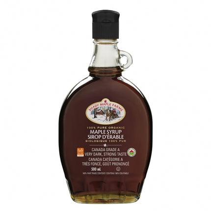 100% Pure Maple Syrup - Canada Grade A. Very Dark Organic - 500mL-O Canada