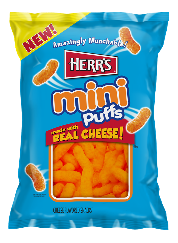 Herr's Mini Puffs - Real Cheese - Chips 170g