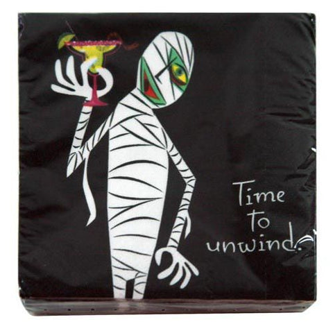 """Time to Unwind"" Mummy Beverage Napkins"
