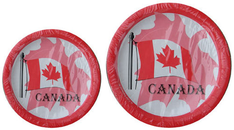 Canada flag paper plates