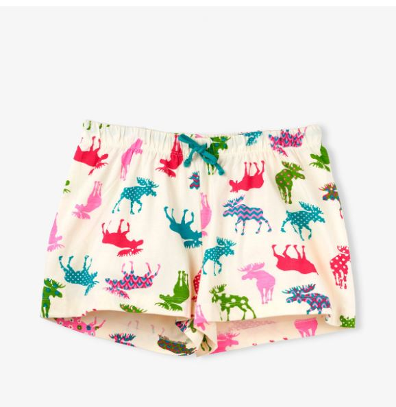 Patterned Moose Women's Sleep Shorts