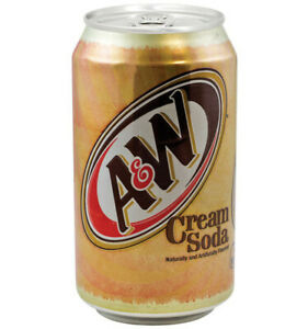 A&W Cream Soda 355mL-O Canada