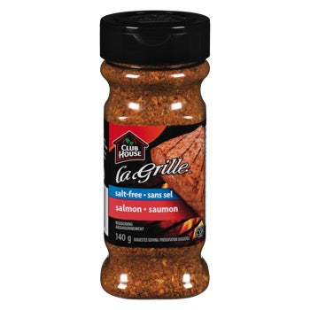Club House LaGrille Salmon Seasoning 170g Salt Free