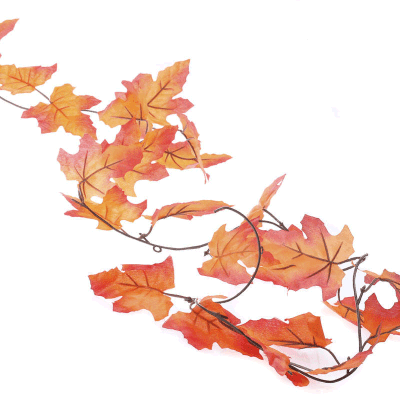 autumn maple leaves silk garland