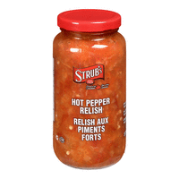 Strub's Hot Pepper Relish 375mL- Best Before 24 Apr 2019-O Canada
