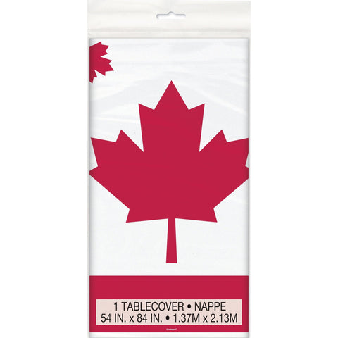 Waving Canadian Flag Table Cover-O Canada