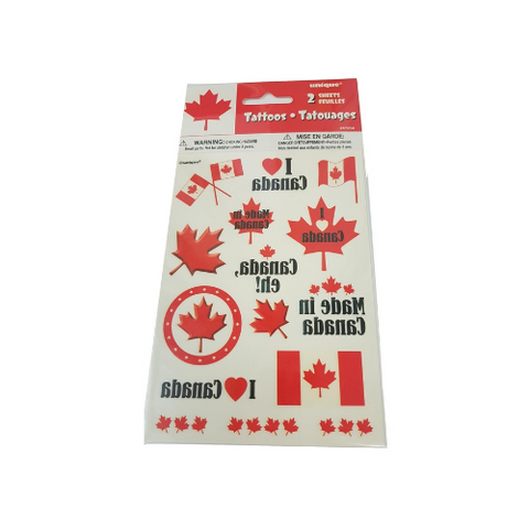 Tattoos/Body Stickers - 2 sheets-O Canada