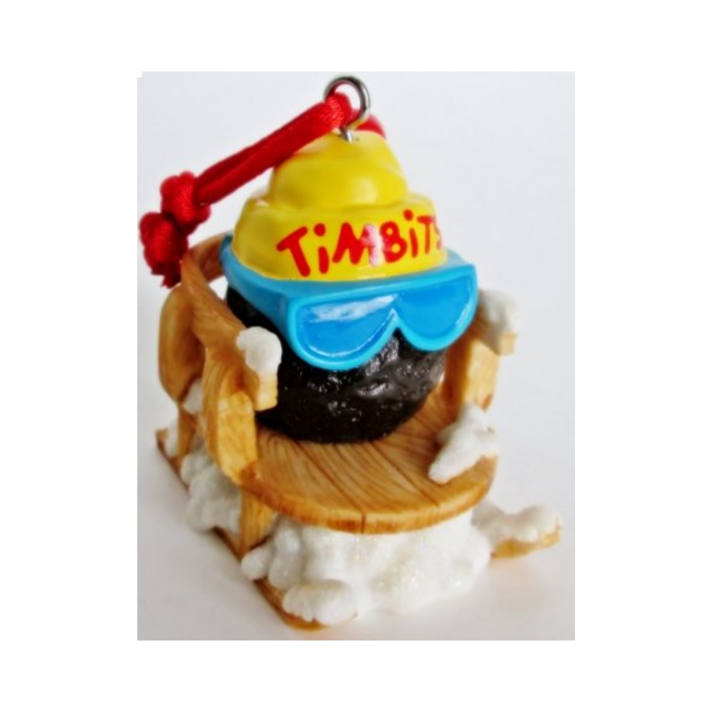 Tim Hortons Timbit on Sled Christmas Ornament