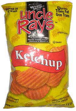 Uncle Ray's Potato Chips Ketchup 130g-O Canada