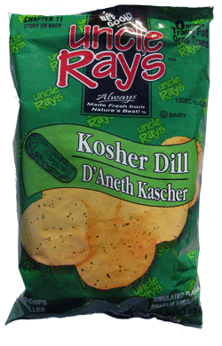 Uncle Ray's Potato Chips Dill Pickle 130g-O Canada