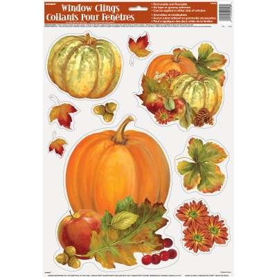 Thanksgiving Pumpkin Harvest Window Clings-O Canada