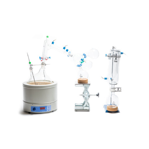 Fractional Distillation Glass Package with Accessories