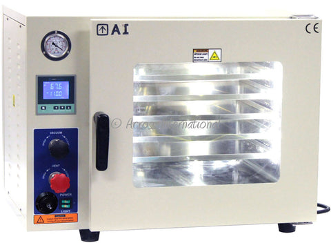 AI 1.9 Cu Ft 4 Sided 16x14x14 Vacuum Oven w/ 5 Sided Heat, All SS Tubing