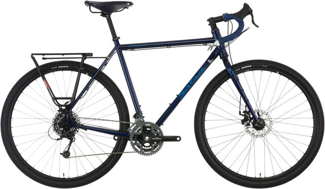Salsa Marrakesh Drop Bar Brooks Bike - 700c, Steel, Dark Blue, 52cm