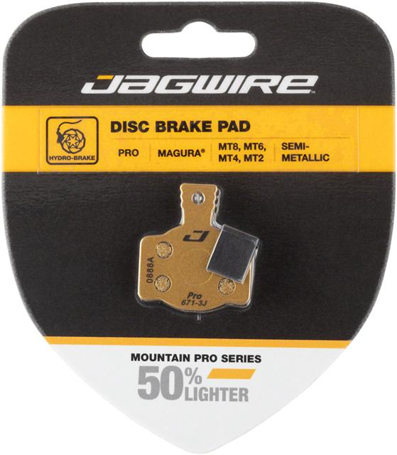 Jagwire Mountain Pro Alloy Backed Semi-Metallic Disc Brake Pad Magura MT8, MT6, MT4, MT2
