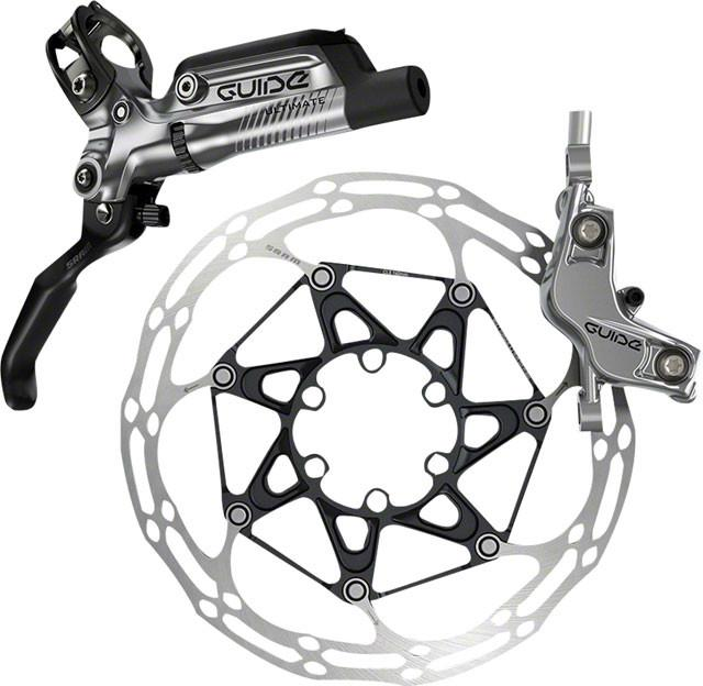 SRAM Guide Ultimate Rear Hydraulic Disc Brake, 1800mm Hose, Gray, Rotor and Adaptor Sold Separately