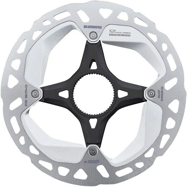 Shimano Deore XT RT-MT800-S Disc Brake Rotor with External Lockring - 160mm, Center Lock, Silver/Black