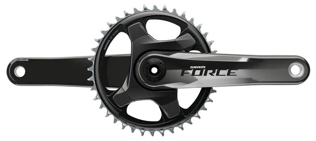 SRAM Force 1 AXS Crankset - 167.5mm, 12-Speed, 40t, 107 BCD, DUB Spindle Interface, Gloss Carbon, D1