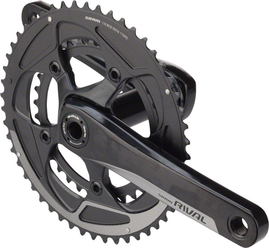 SRAM Rival 22 BB30 170mm Yaw 50-34 110mm BCD Crankset, No Bottom Bracket