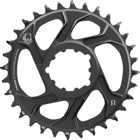 SRAM X-Sync 2 Eagle Chainring Direct Mount 6mm Offset Black BB30 or GXP