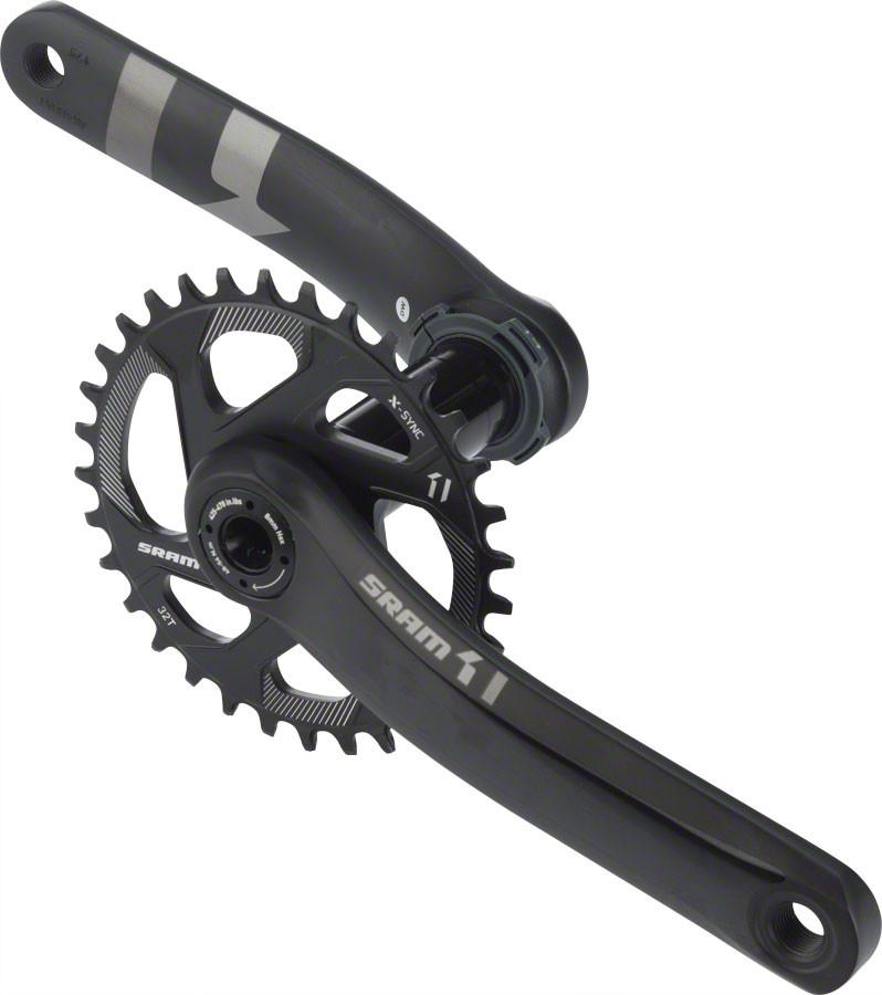 SRAM X1 1400 BB30 175mm Crankset Direct Mount 32T Chainring NO BB Black
