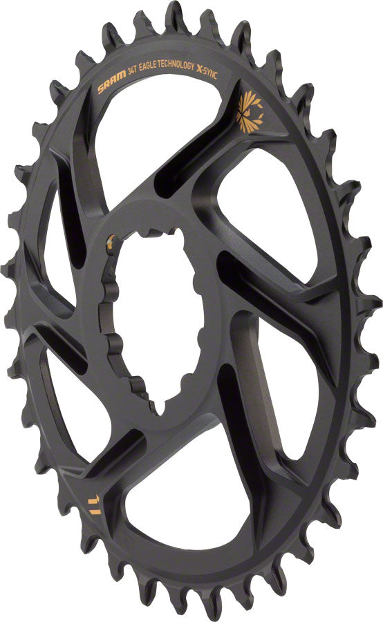 SRAM X-Sync 2 Eagle SL Direct Mount Chainring 34T 6mm Offset with Gold Logo *no packaging/bolts*