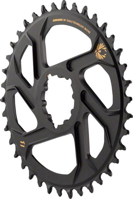 SRAM X-Sync 2 Eagle Chainring Direct Mount 3mm Offset Boost Black with Gold Logo