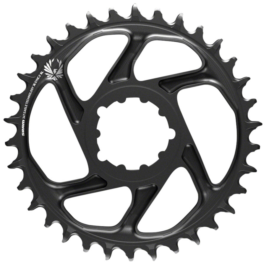 SRAM X-Sync 2 Eagle SL Direct Mount Chainring 34T 6mm Offset, Black with Gray Logo *no packaging/bolts*