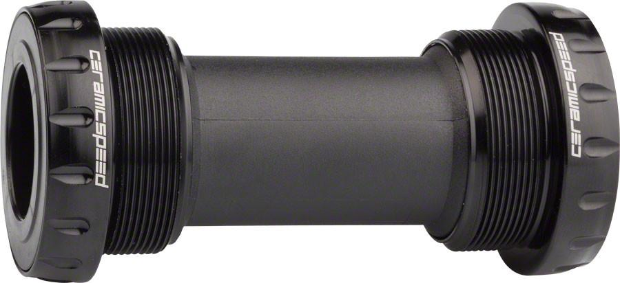 CeramicSpeed External Bottom Bracket, 68mm Road Coated BSA Black