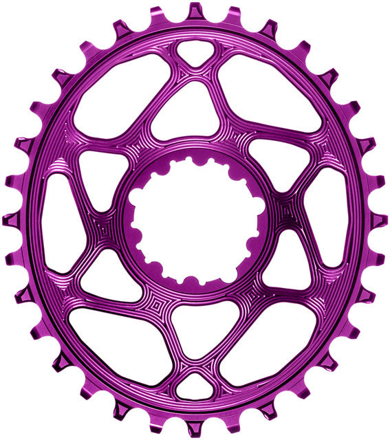 absoluteBLACK Oval Narrow-Wide Direct Mount Chainring - 30t, SRAM 3-Bolt Direct Mount, 3mm Offset, Purple