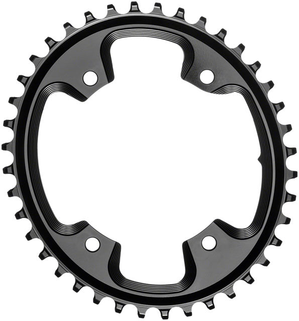 absoluteBLACK Oval 110 BCD CX Chainring - 40t, 110 Shimano Asymmetric BCD, 4-Bolt, Narrow-Wide, Black