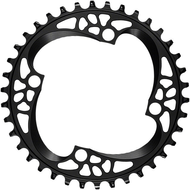 absoluteBLACK Round 104 BCD Chainring - 36t, 104 BCD, 4-Bolt, Narrow-Wide, Black