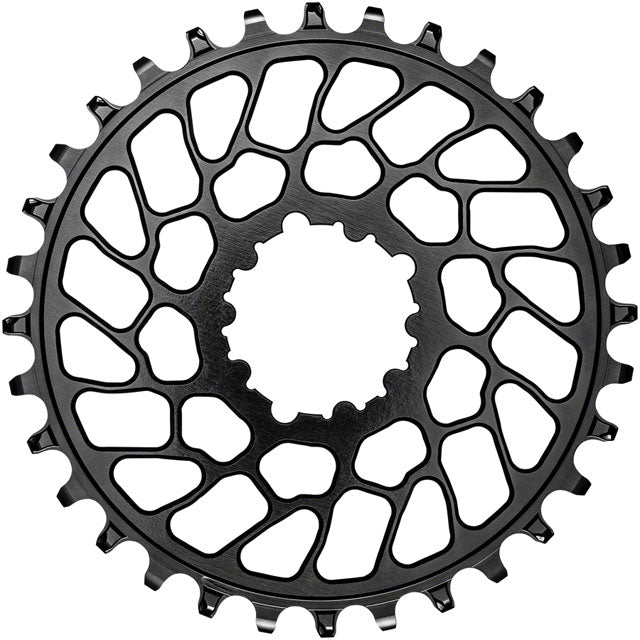 absoluteBLACK Round Narrow-Wide Direct Mount Chainring - 30t, SRAM 3-Bolt Direct Mount, 0mm Offset, Black