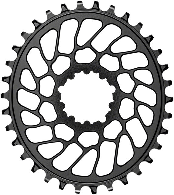 absoluteBLACK Oval Narrow-Wide Direct Mount Chainring - 34t, SRAM 3-Bolt Direct Mount, 0mm Offset, Black