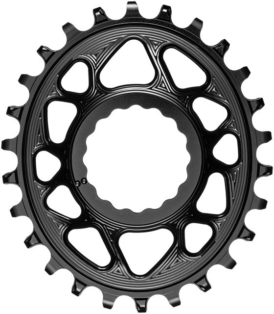 absoluteBLACK Oval Narrow-Wide Direct Mount Chainring - 26t, CINCH Direct Mount, 6mm Offset, Black
