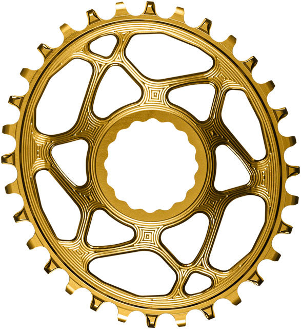 absoluteBLACK Oval Narrow-Wide Direct Mount Chainring - 32t, CINCH Direct Mount, 3mm Offset, Gold