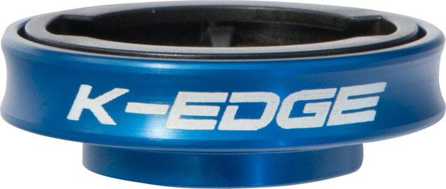 K-EDGE Gravity Stem Cap Mount for Garmin Quarter Turn Type Computers, Blue
