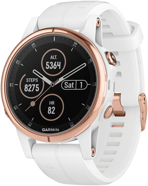 Garmin Fenix 5S Plus Sapphire GPS Watch: Rose Gold/White