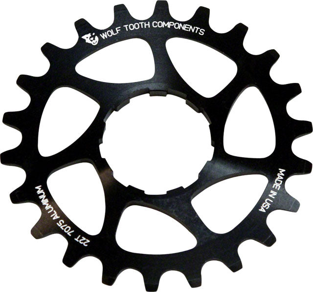 "Wolf Tooth Single Speed Aluminum Cog: 18T, Compatible with3/32"" chains"