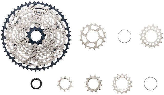 Shimano SLX CS-M7100 Cassette - 12-Speed, 10-45t, Silver/Black, Micro Spline