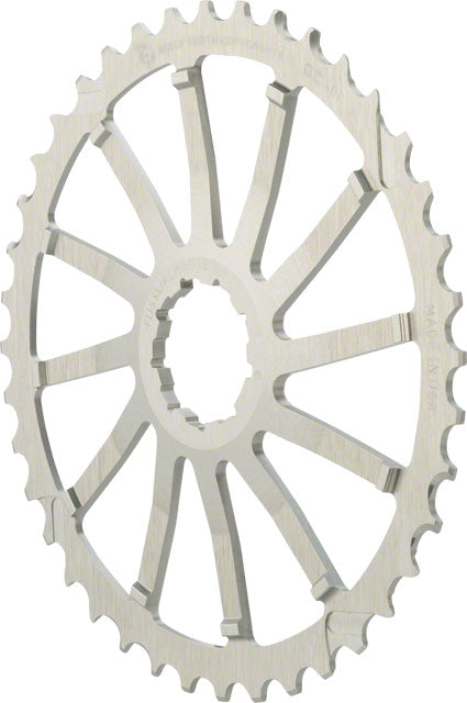Wolf Tooth 42T GC cog for SRAM 11-36 10-speed Cassettes, Silver