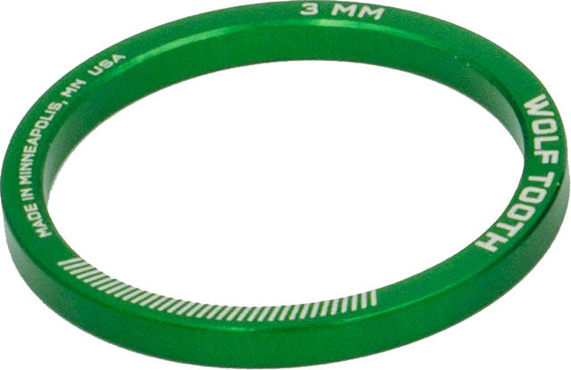 Wolf Tooth Headset Spacer 5 Pack, 3mm, Green