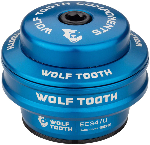 Wolf Tooth EC34/28.6 Upper Headset 16mm Stack Blue