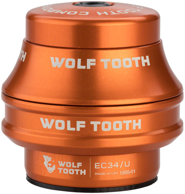 Wolf Tooth EC34/28.6 Upper Headset 25mm Stack Orange