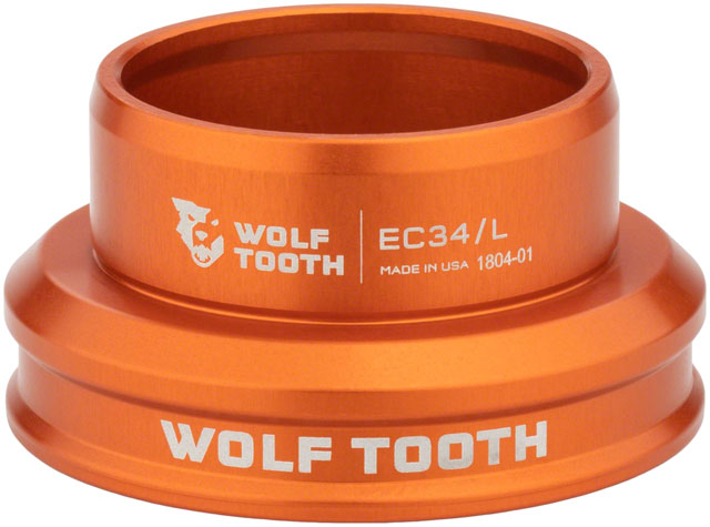 Wolf Tooth EC34/30 Lower Headset Orange