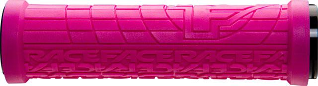 RaceFace Grippler Grips - Magenta, Lock-On, 30mm