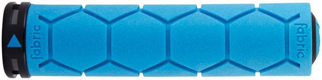 Fabric Silicone Grips - Blue, Lock-On